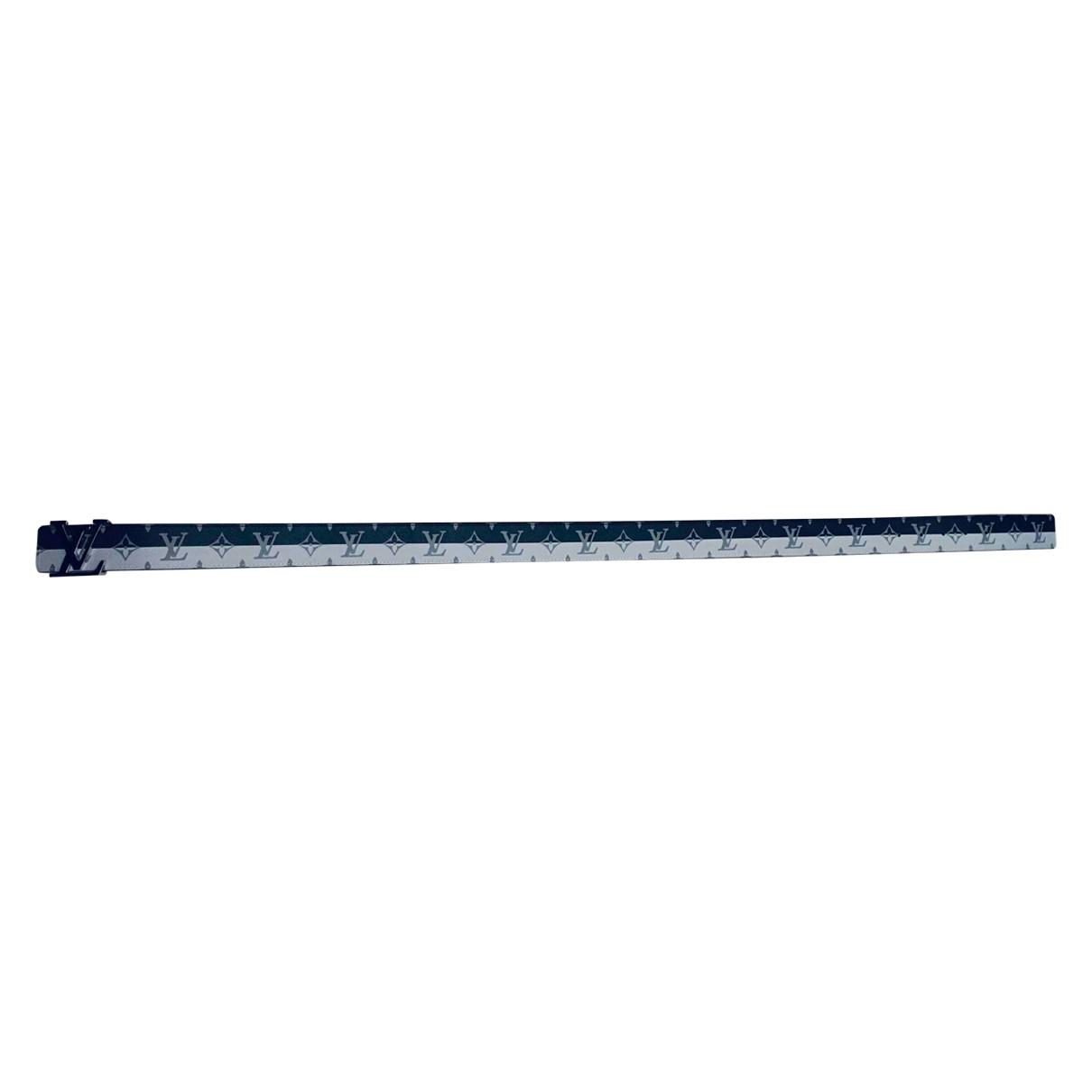 Louis Vuitton Initiales Grey Cloth belt for Men 90 cm
