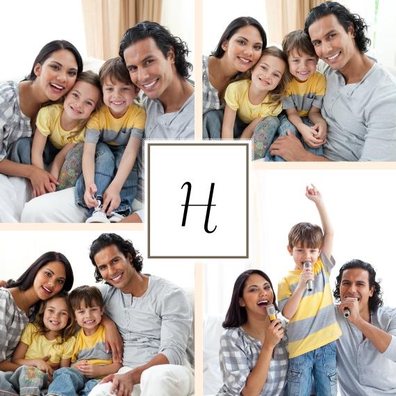 Family 18x18 Square Throw Pillow, Gift -Family Portrait
