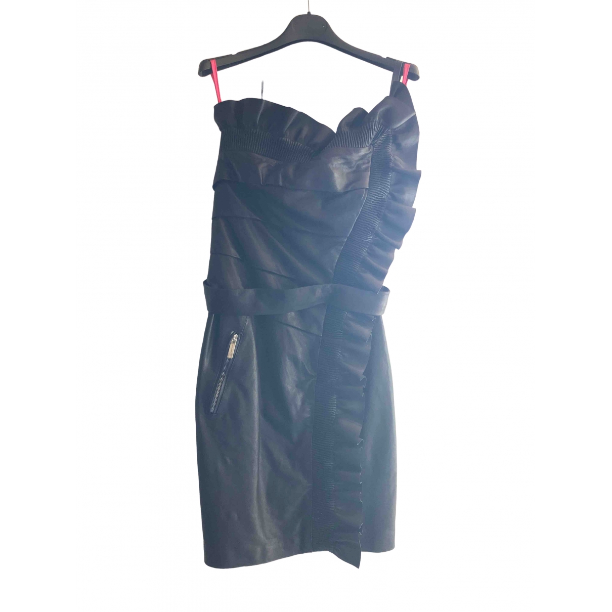 Dsquared2 \N Black Leather dress for Women 42 IT