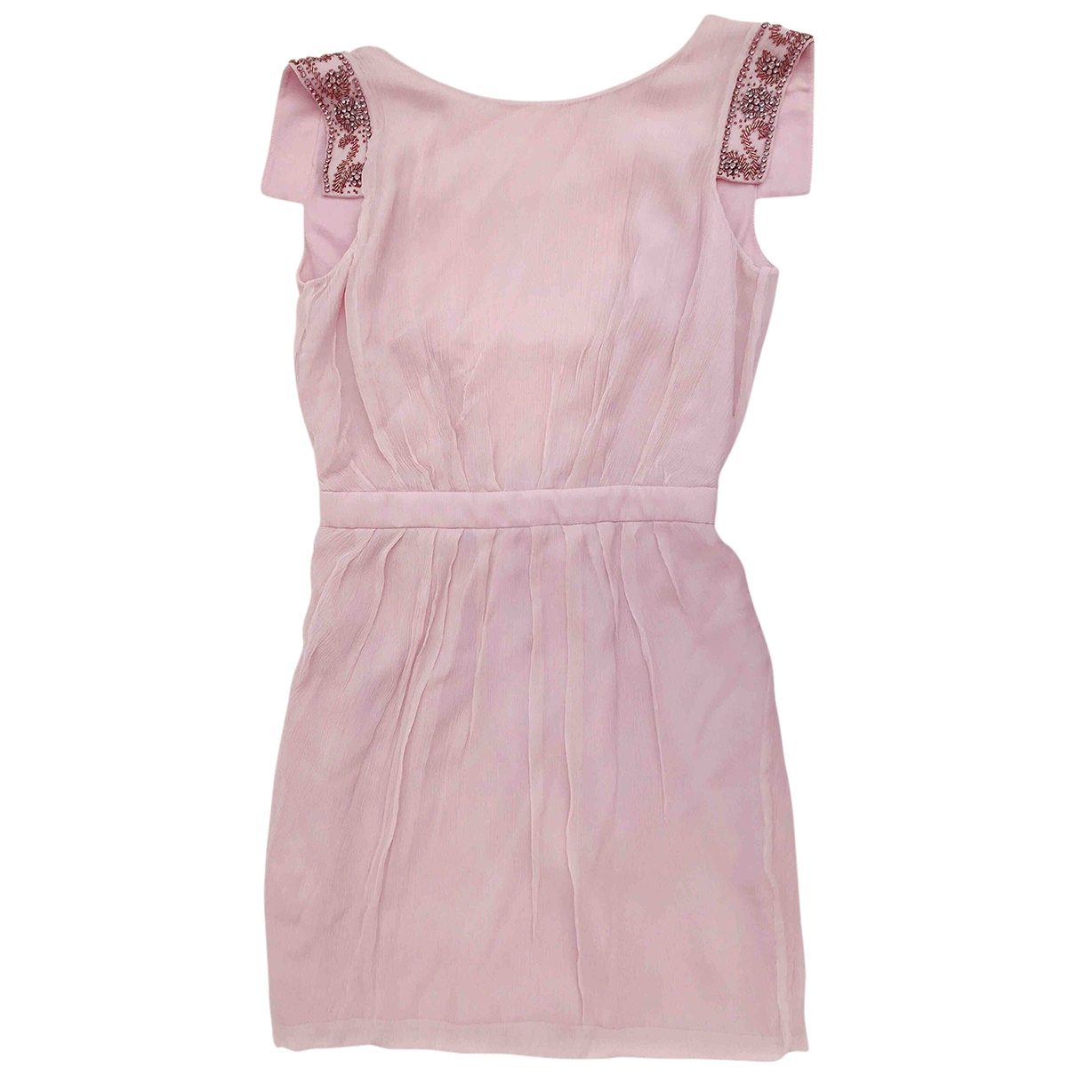 Mango \N Pink Silk dress for Women M International