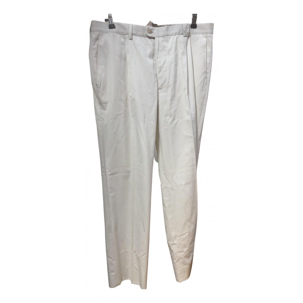 Burberry \N White Trousers for Men 48 FR