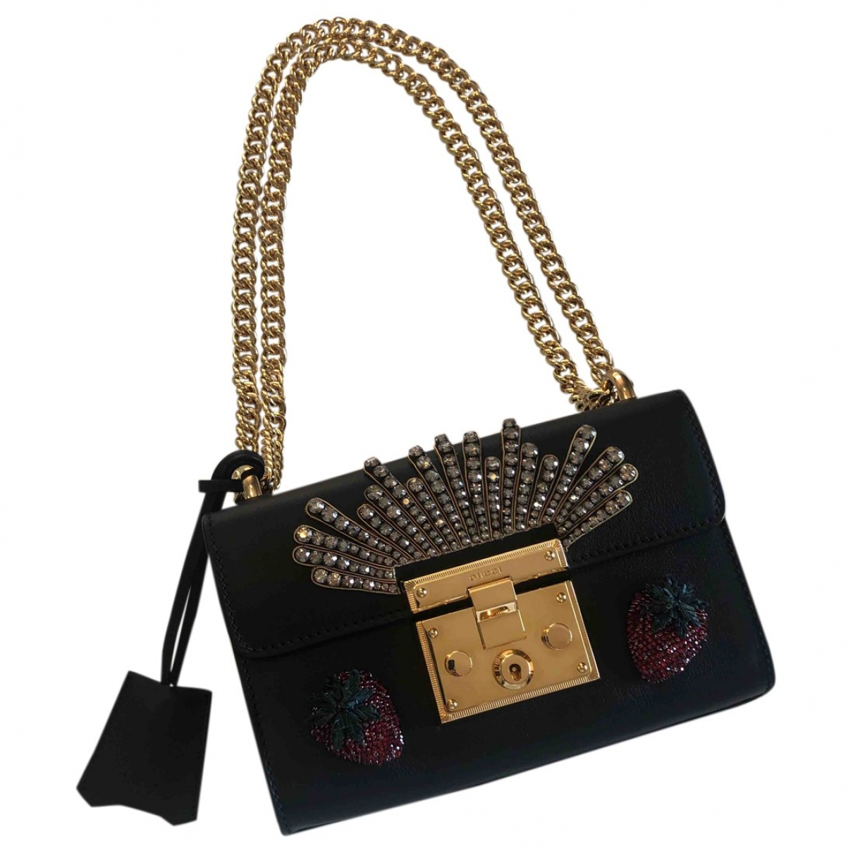 Gucci Padlock Black Leather handbag for Women \N