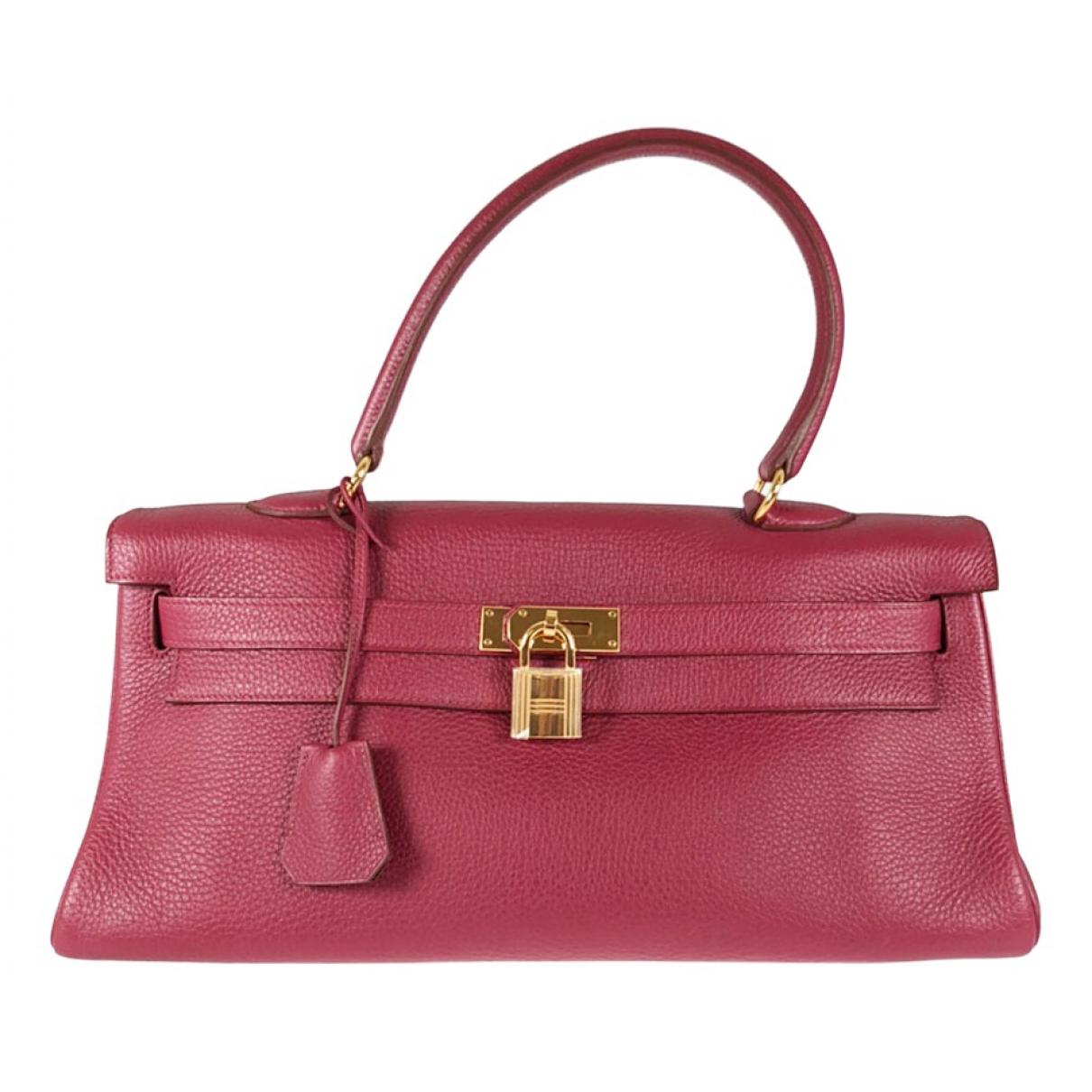 Hermes Kelly Shoulder Handtasche in  Rot Leder