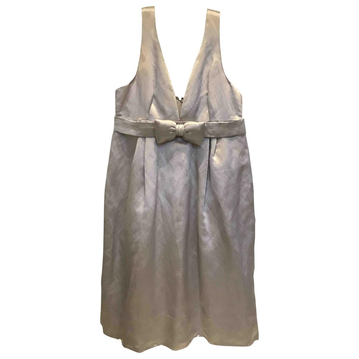 Manoush \N Silver Silk dress for Women 36 FR