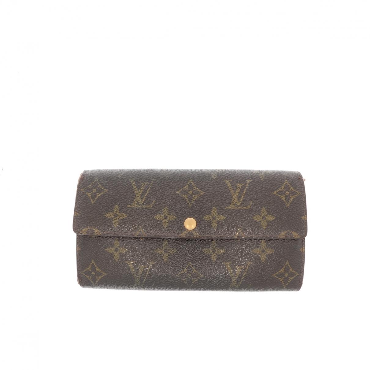 Louis Vuitton \N Portemonnaie Braun