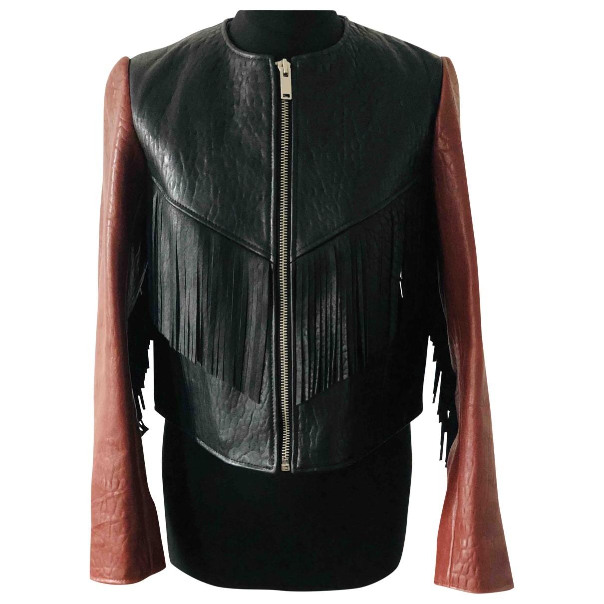 Isabel Marant Etoile \N Black Leather Leather jacket for Women 36 FR