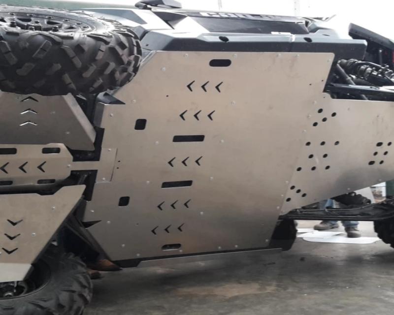 AFX Motorsports SKI106-316 Full Aluminum Skid Plate Kit W/o A-Arm Guards Can-Am X3 Max 17-19