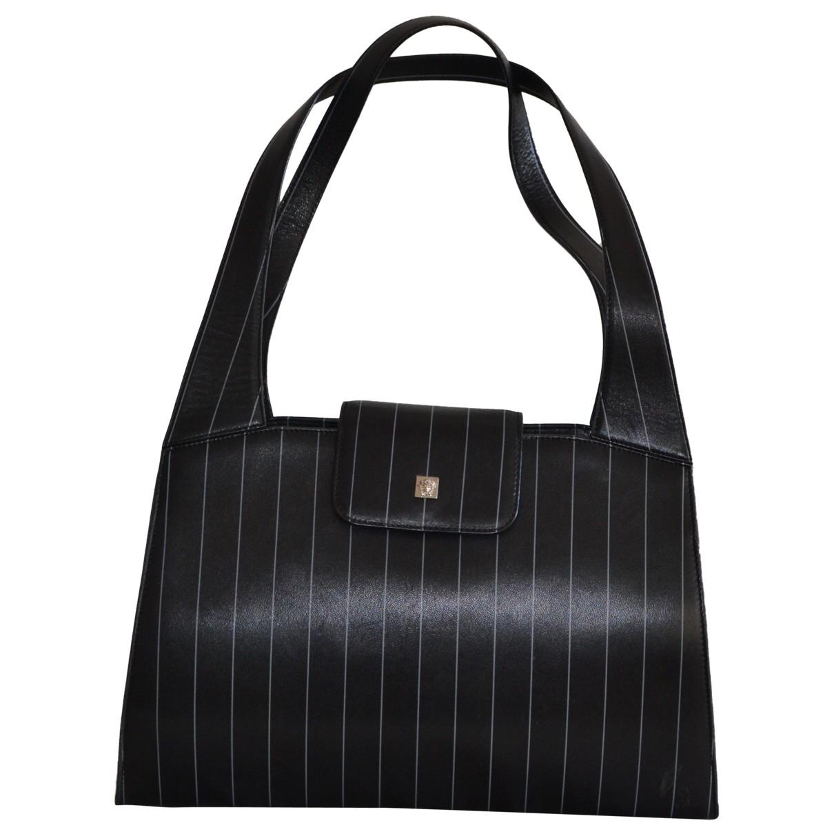 Gianni Versace - Sac a main   pour femme en cuir - noir