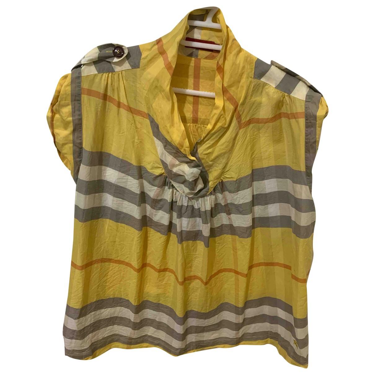 Burberry \N Top in  Gelb Seide