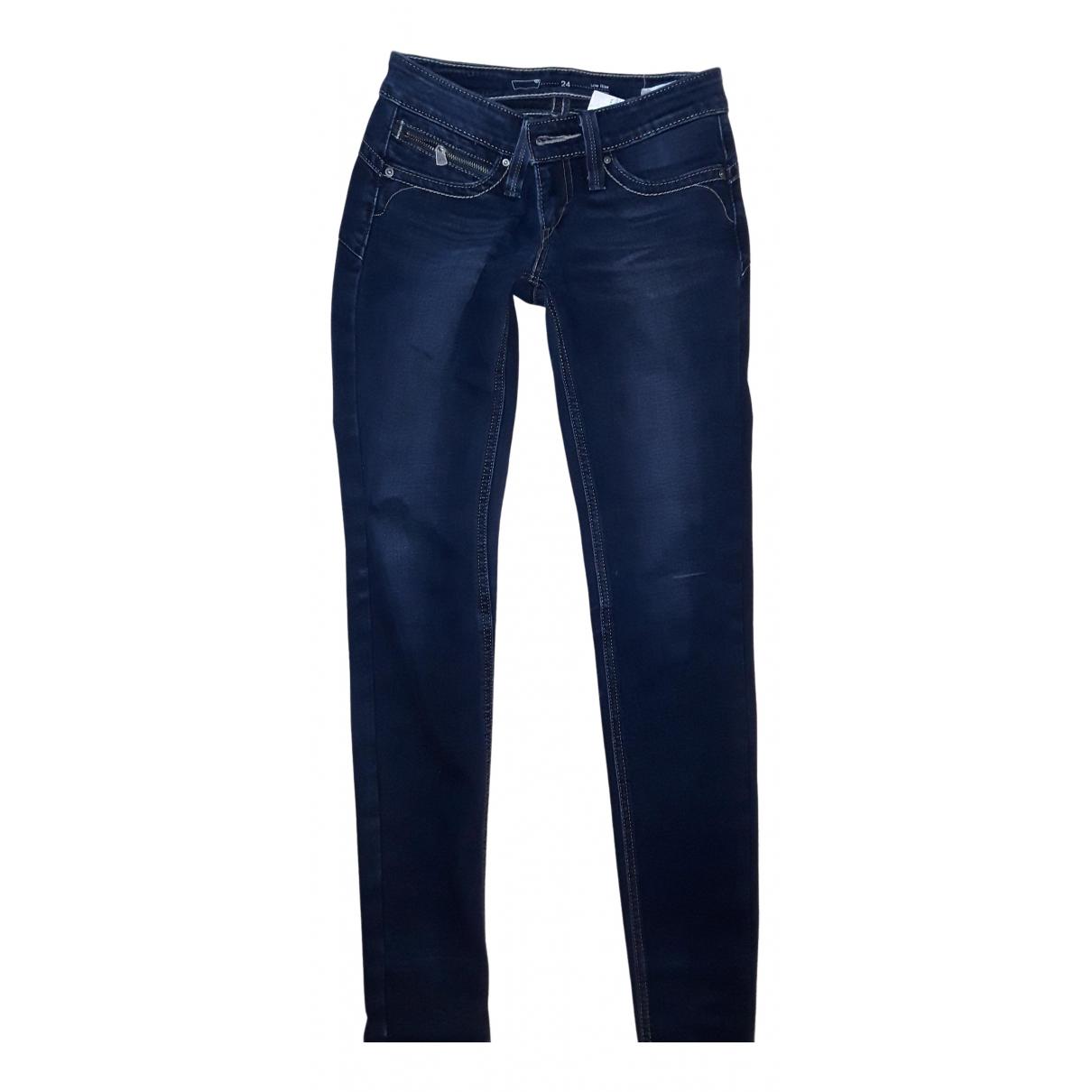 Levi's N Blue Cotton Jeans for Women 24 US