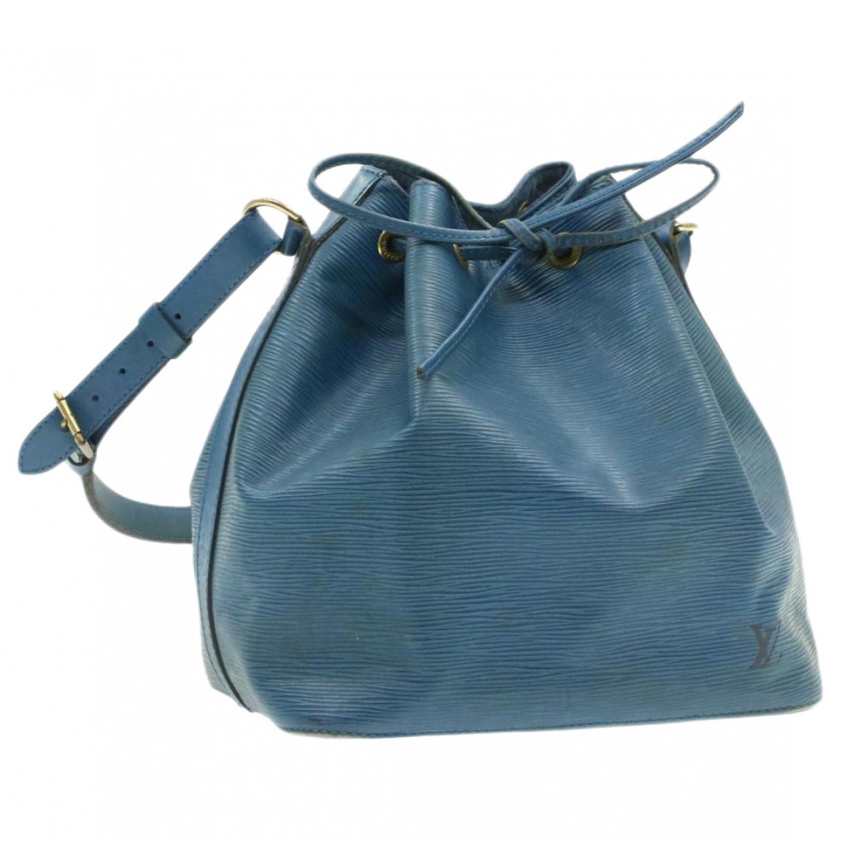 Louis Vuitton - Sac a main Petit Noe trunk pour femme en cuir - bleu