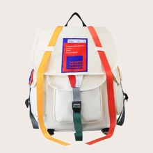 Guys Colorblock Flap Backpack