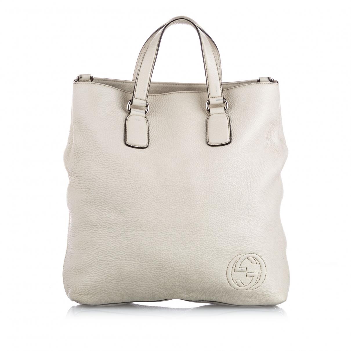 Gucci - Sac a main   pour femme en cuir - blanc