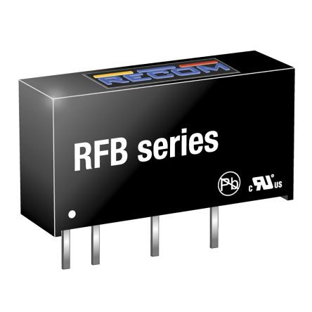 Recom RFB 1W Isolated DC-DC Converter Through Hole, Voltage in 4.5 → 5.5 V dc, Voltage out 5V dc