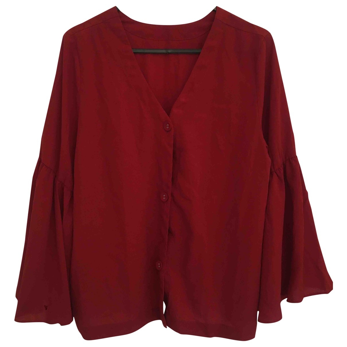 Non Signe / Unsigned \N Top in  Rot Polyester