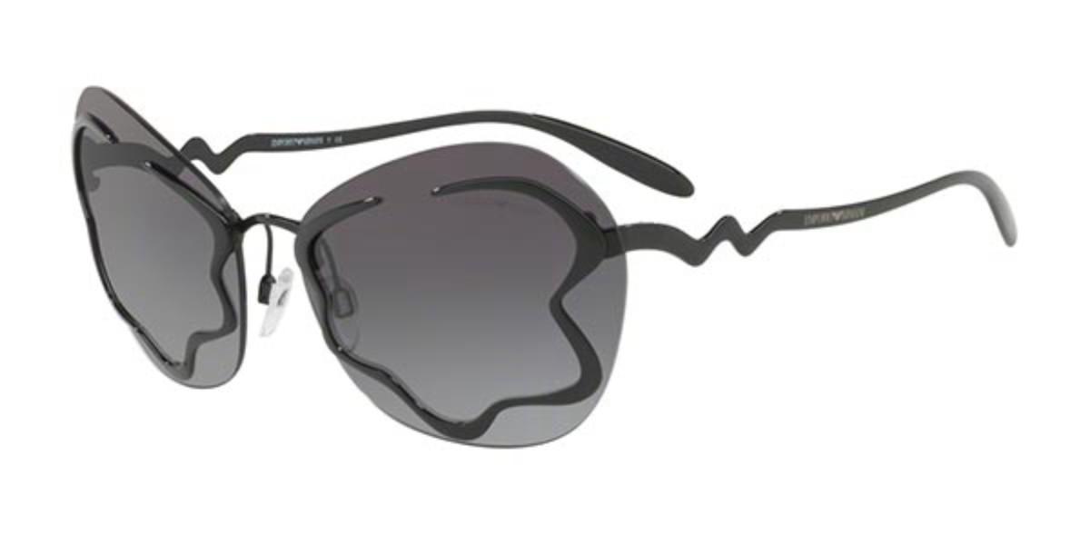 Emporio Armani EA2060 30148G Women's Sunglasses Black Size 65