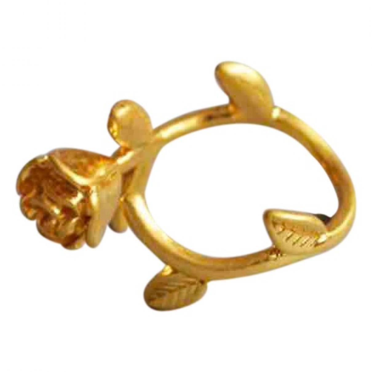 Non Signe / Unsigned Motifs Floraux Ring in  Gold Vergoldet
