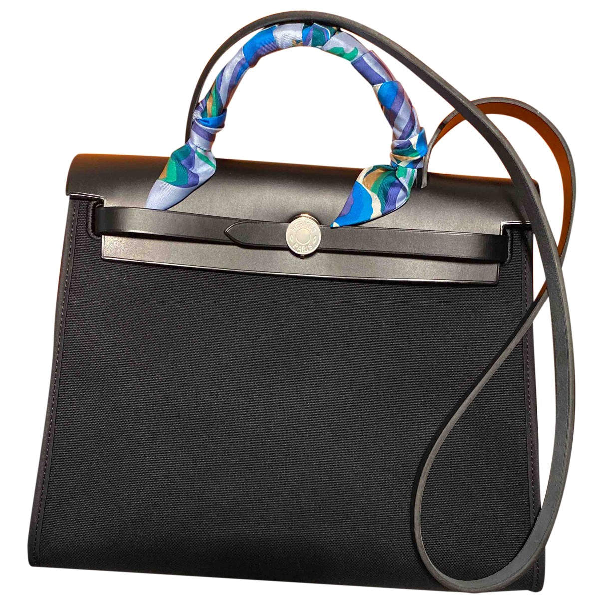 Hermès Herbag Black Cloth handbag for Women \N