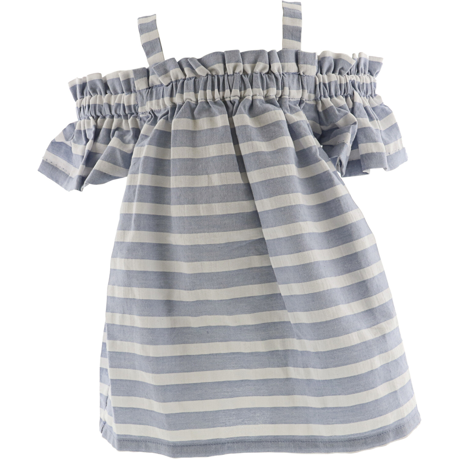Janie And Jack Girl's Striped Cover Up Cover-Up - 3-6 Months - Sky Blue Stripe