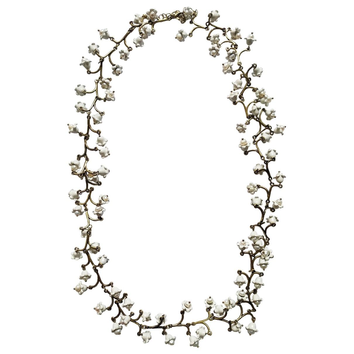 Collar Motifs Floraux con Perla Non Signe / Unsigned