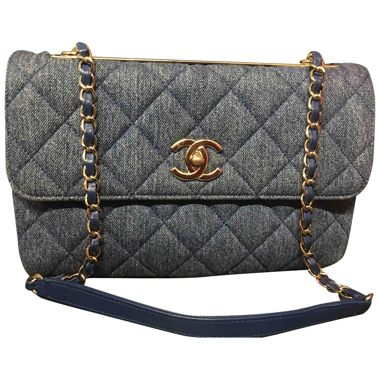 Chanel - Sac a main Trendy CC pour femme en denim - bleu