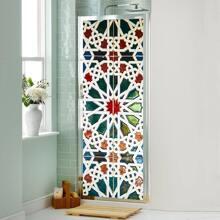 Vintage Flower Print Door Sticker