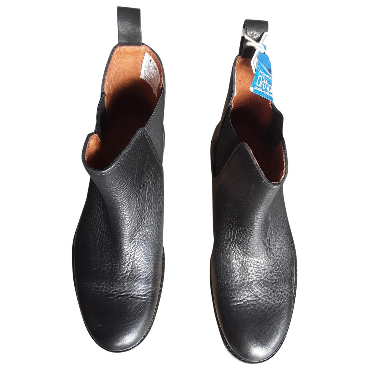Aigle - Bottes.Boots   pour homme en cuir - noir