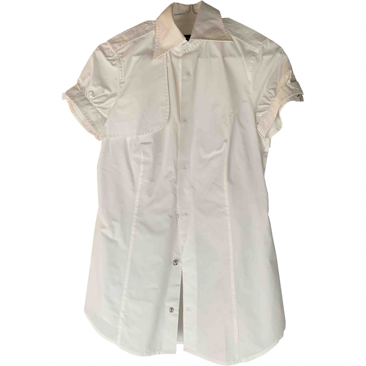 Dsquared2 \N White Cotton  top for Women 40 IT