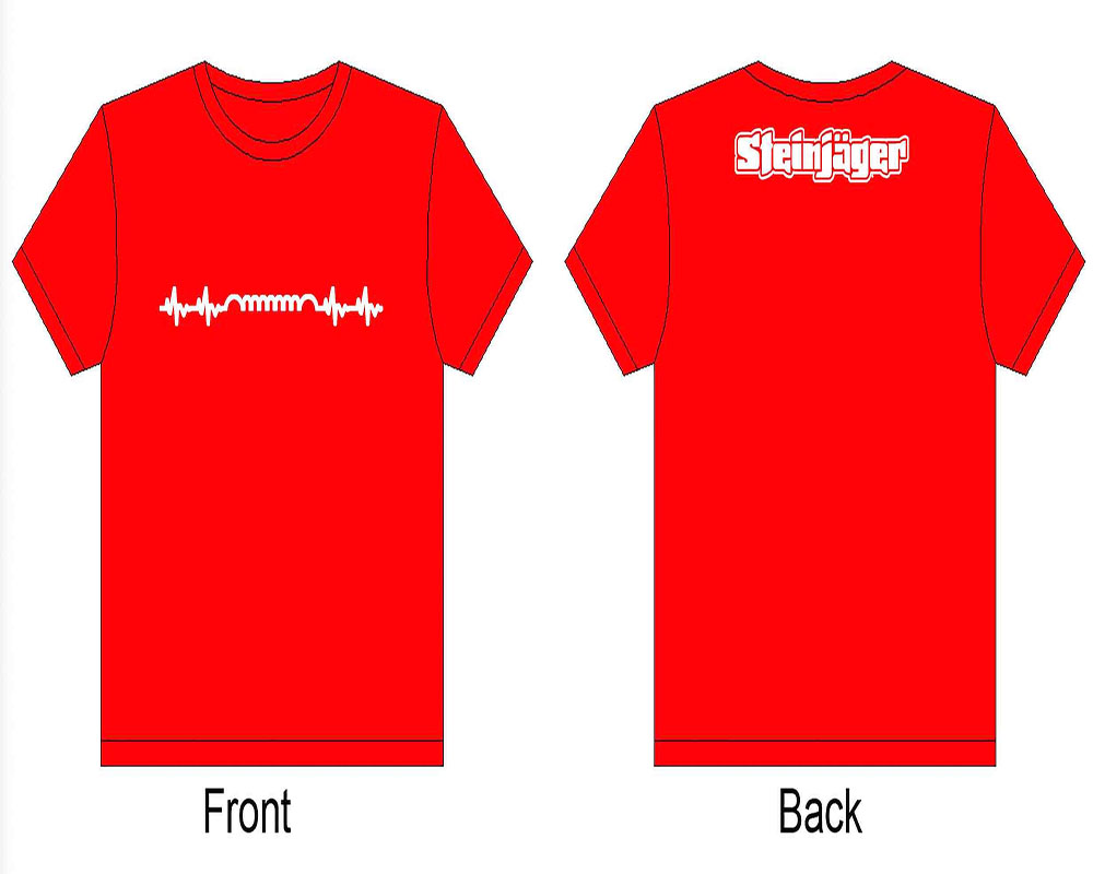 Steinjager J0047211 Red Shirts Heartbeat Size S