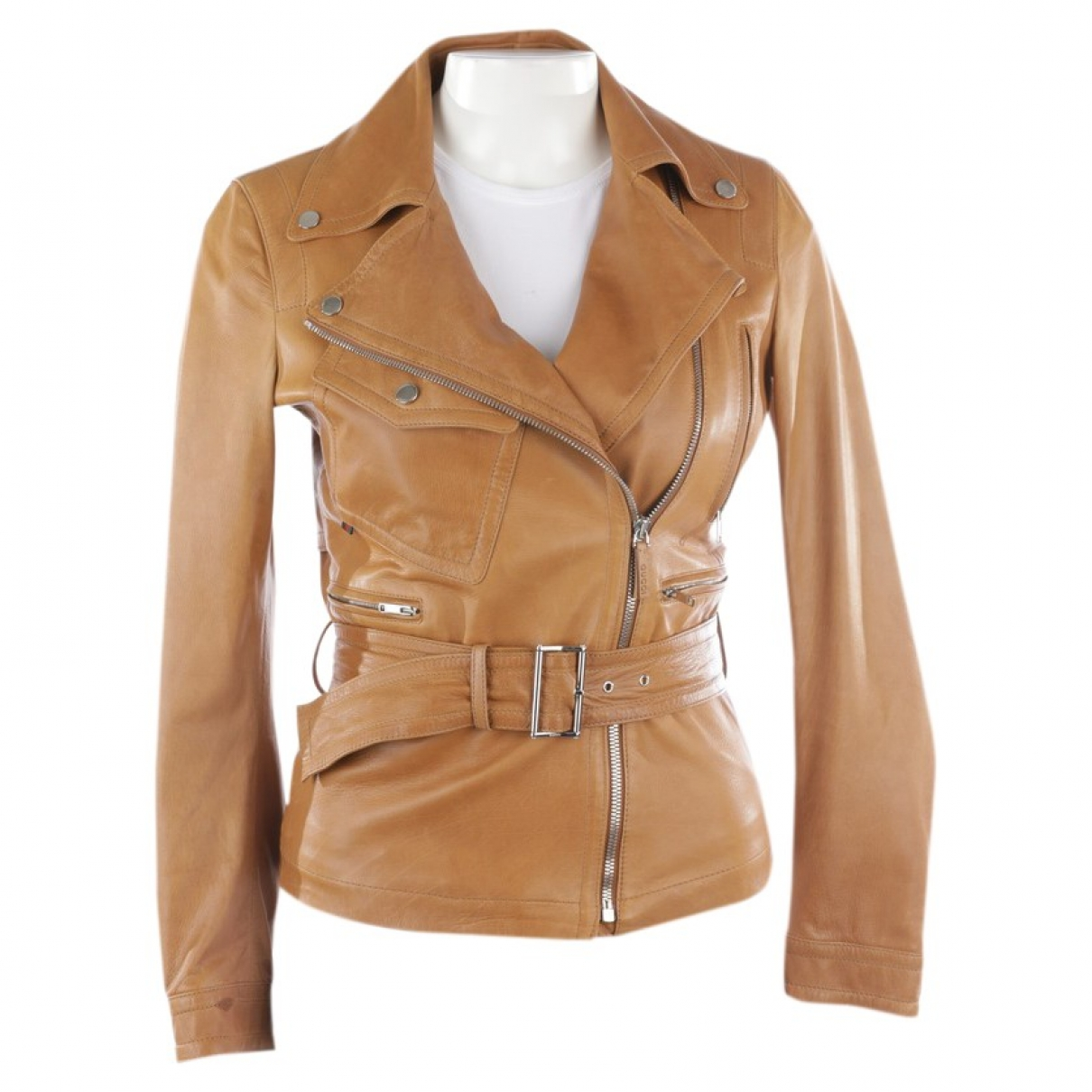 Gucci \N Brown Leather jacket for Women 32 FR