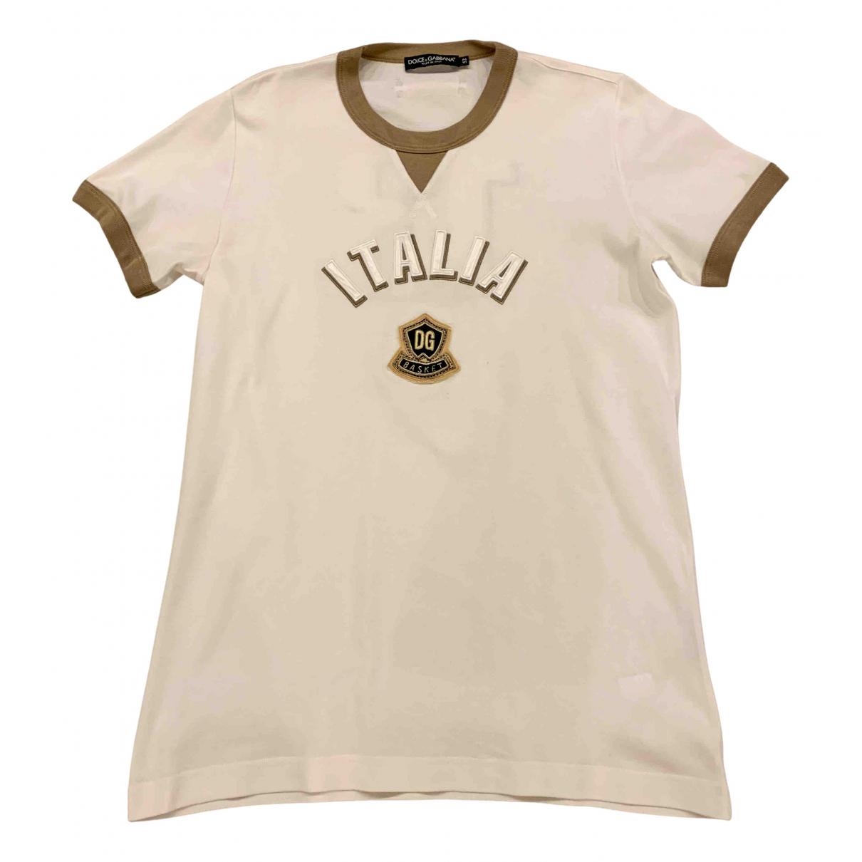 Dolce & Gabbana - Tee shirts   pour homme en coton - beige