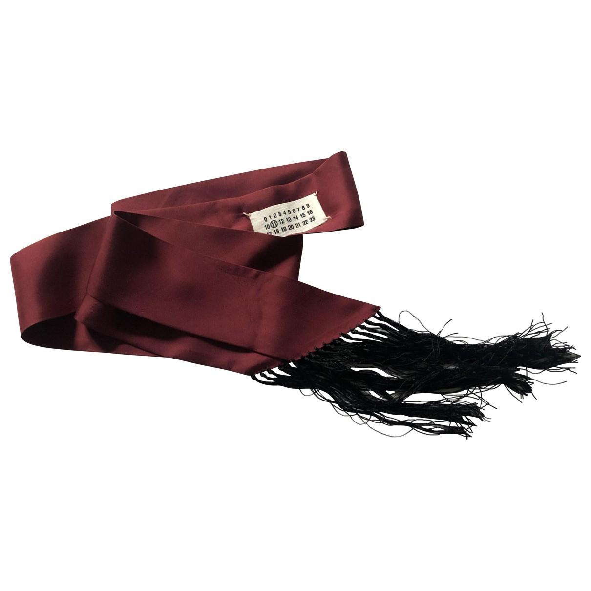Maison Martin Margiela N Burgundy Silk scarf for Women N