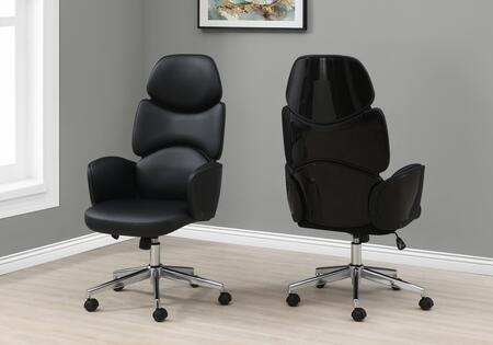I 7321 Office Chair - Black Leather-Look High Back
