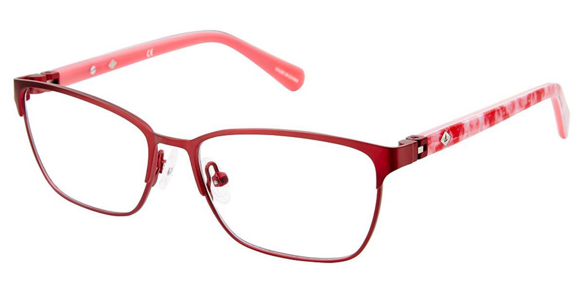 Sperry HALYARD C03 Women's Glasses Red Size 48 - Free Lenses - HSA/FSA Insurance - Blue Light Block Available