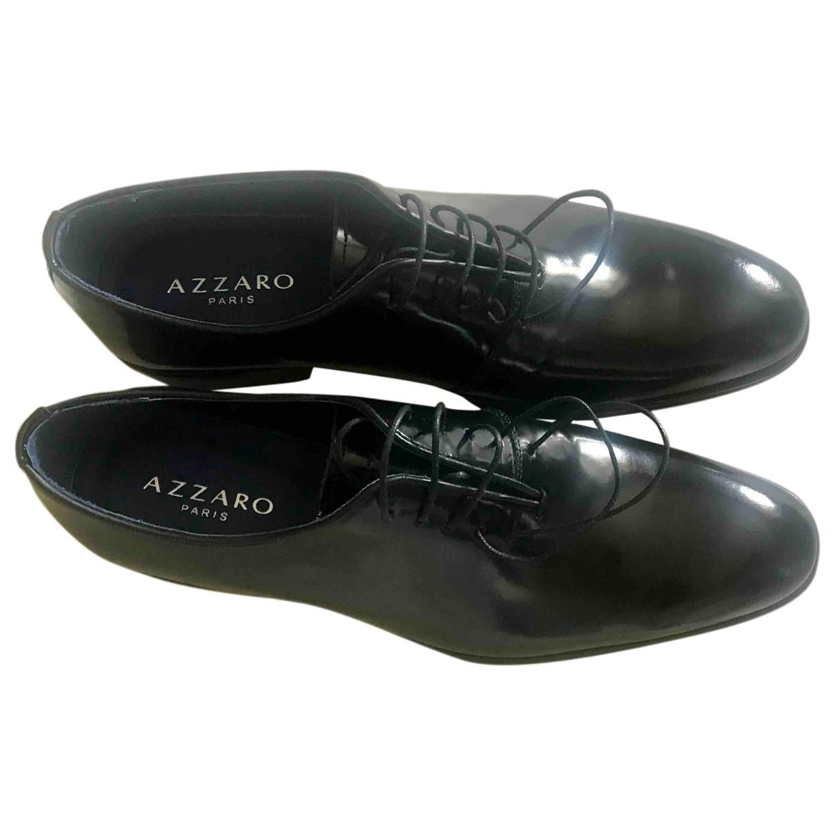 Azzaro \N Schnuerschuhe in  Schwarz Lackleder