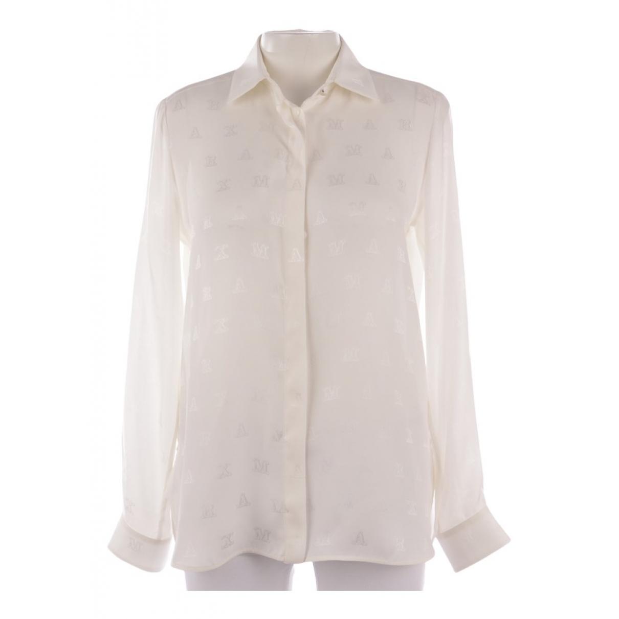 Max Mara \N White Silk  top for Women 40 FR