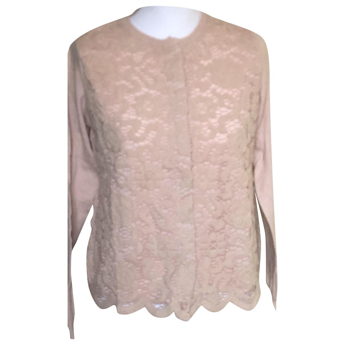 Twin Set - Pull   pour femme en laine - rose