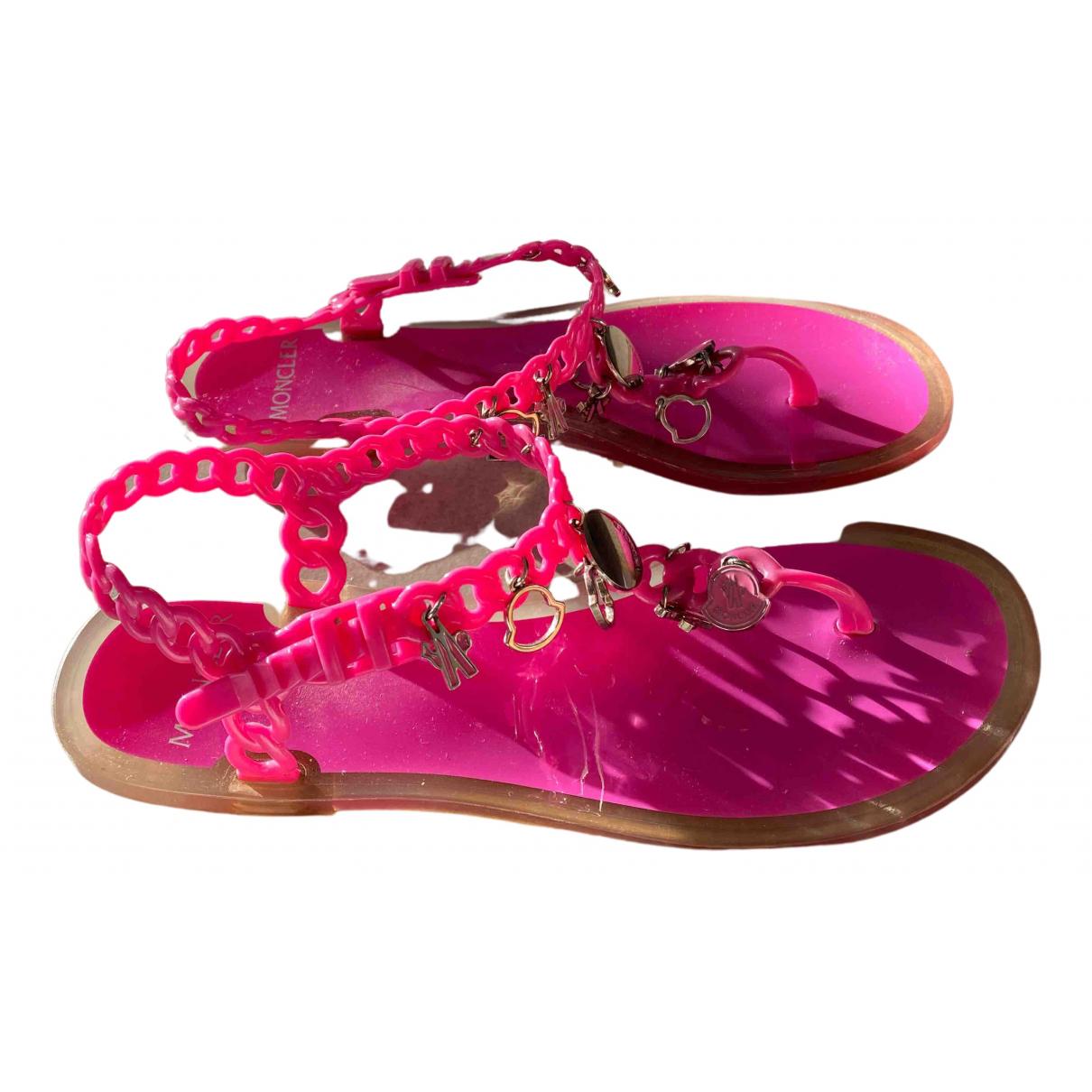 Moncler N Pink Sandals for Women 38 EU