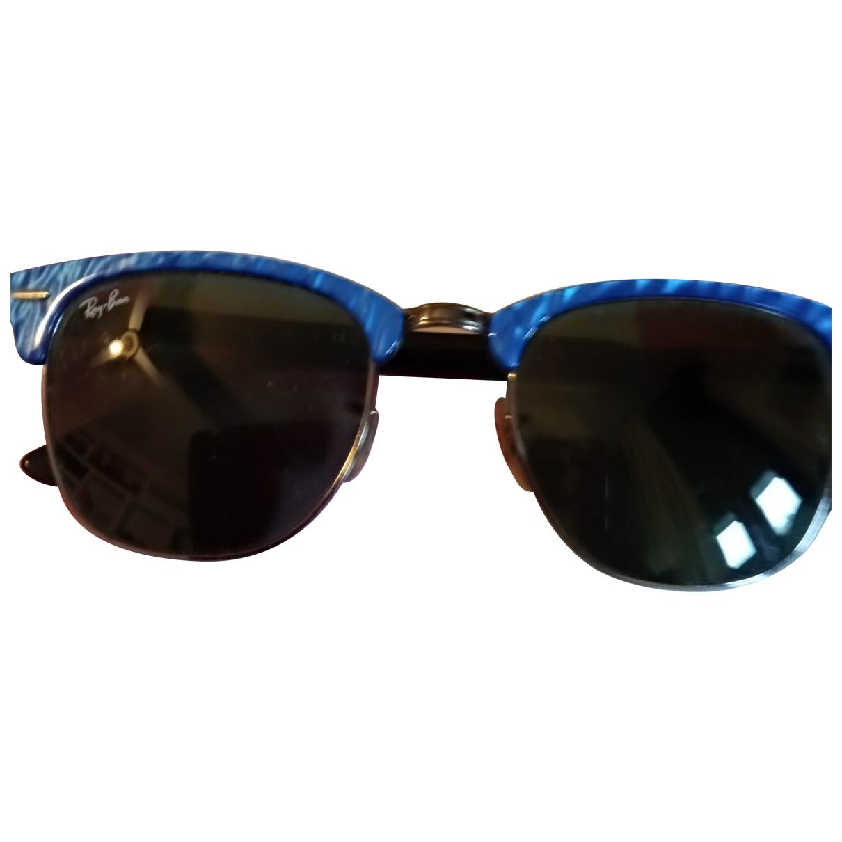 Ray-ban Clubmaster Sonnenbrillen in  Blau Kunststoff