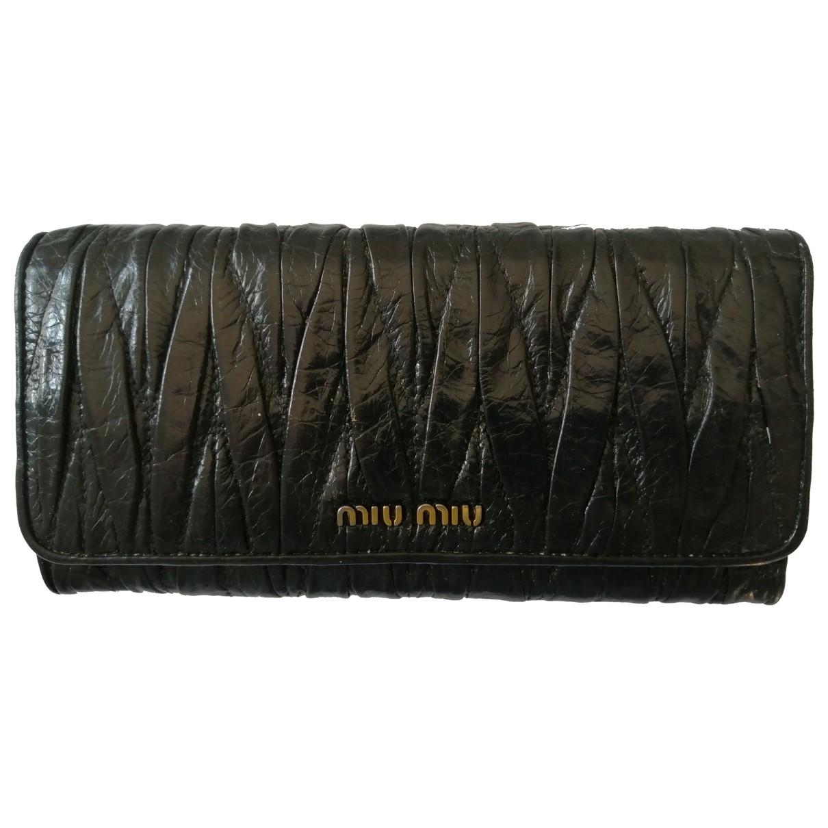 Miu Miu \N Black Patent leather wallet for Women \N