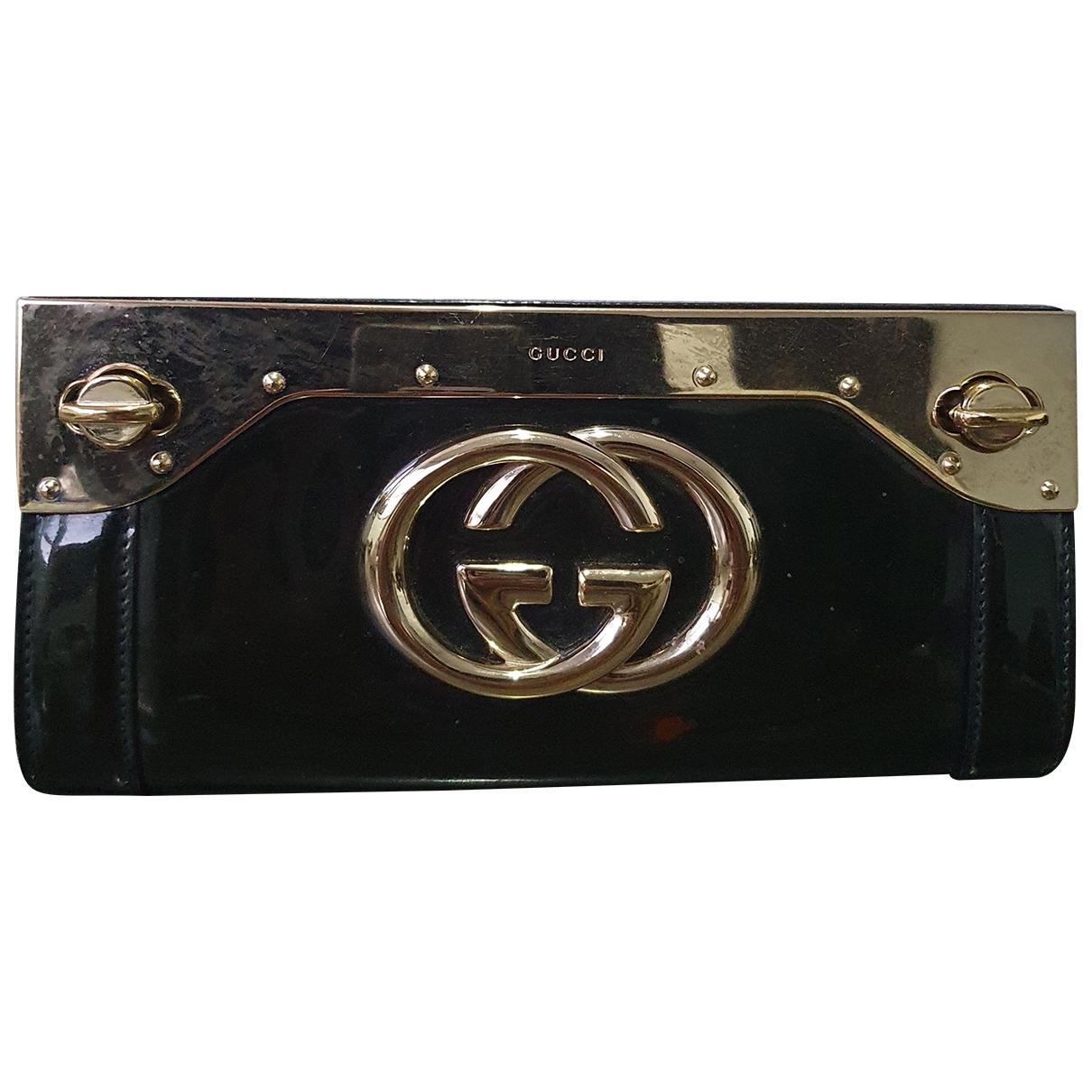 Bolsos clutch en Metal Negro Gucci