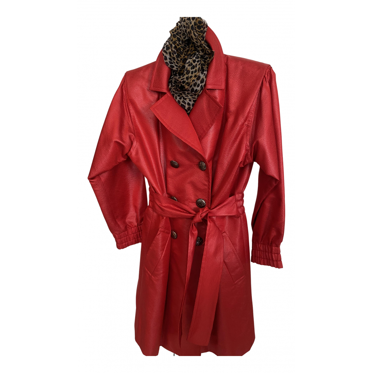 Yves Saint Laurent \N Trench in  Rot Wolle