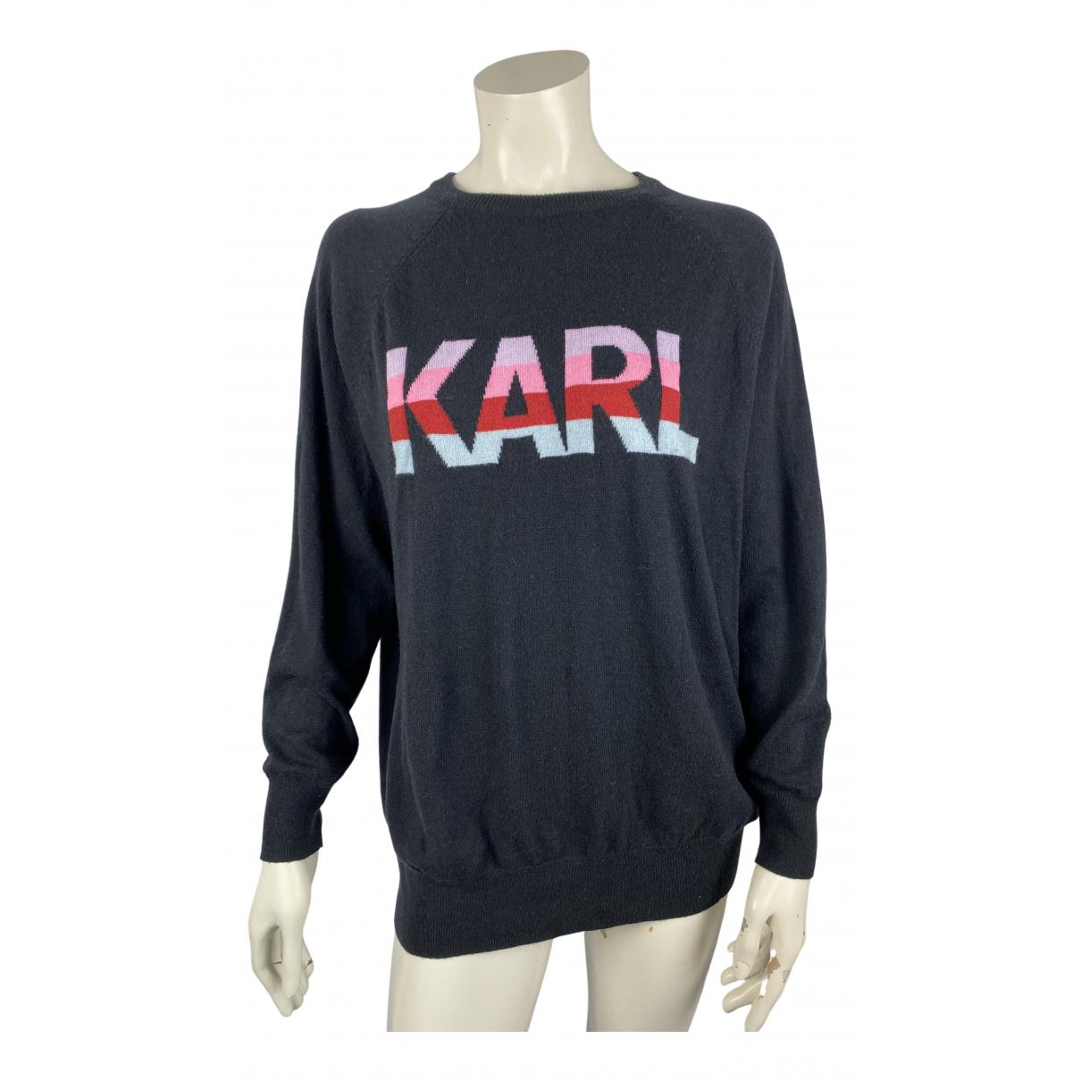 Karl Lagerfeld N Black Wool Knitwear for Women M International