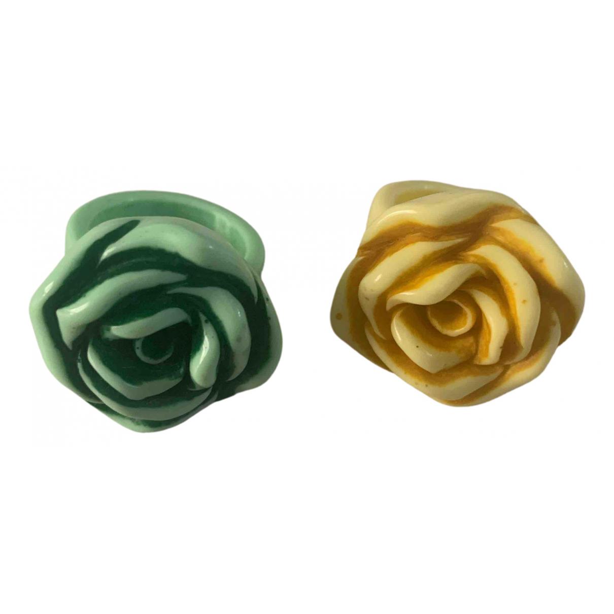 - Bague Motifs Floraux pour femme en metal - vert