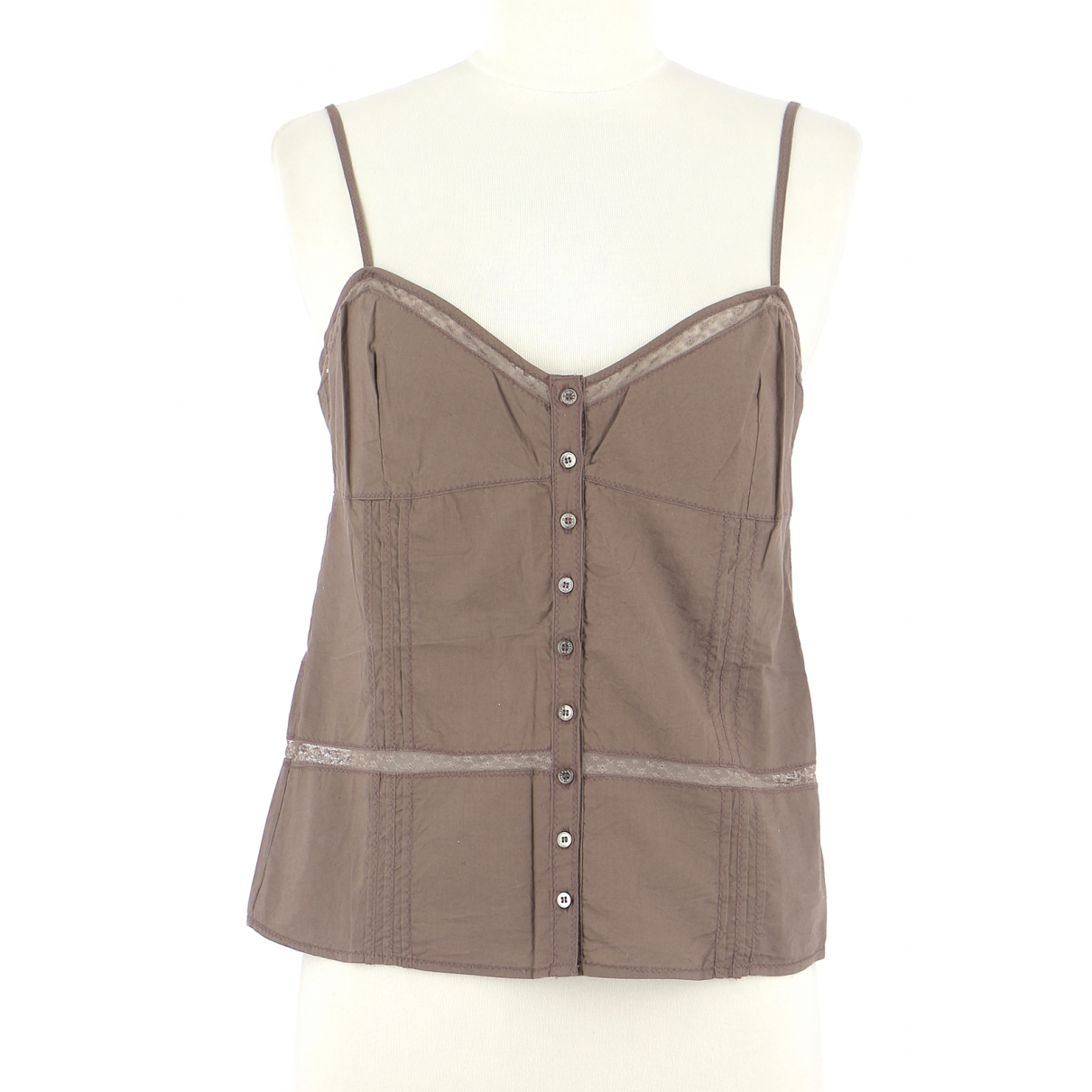 Zadig & Voltaire - Top   pour femme en coton - marron