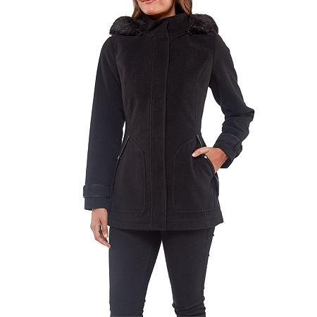 Details Heavyweight Overcoat, Large , Black