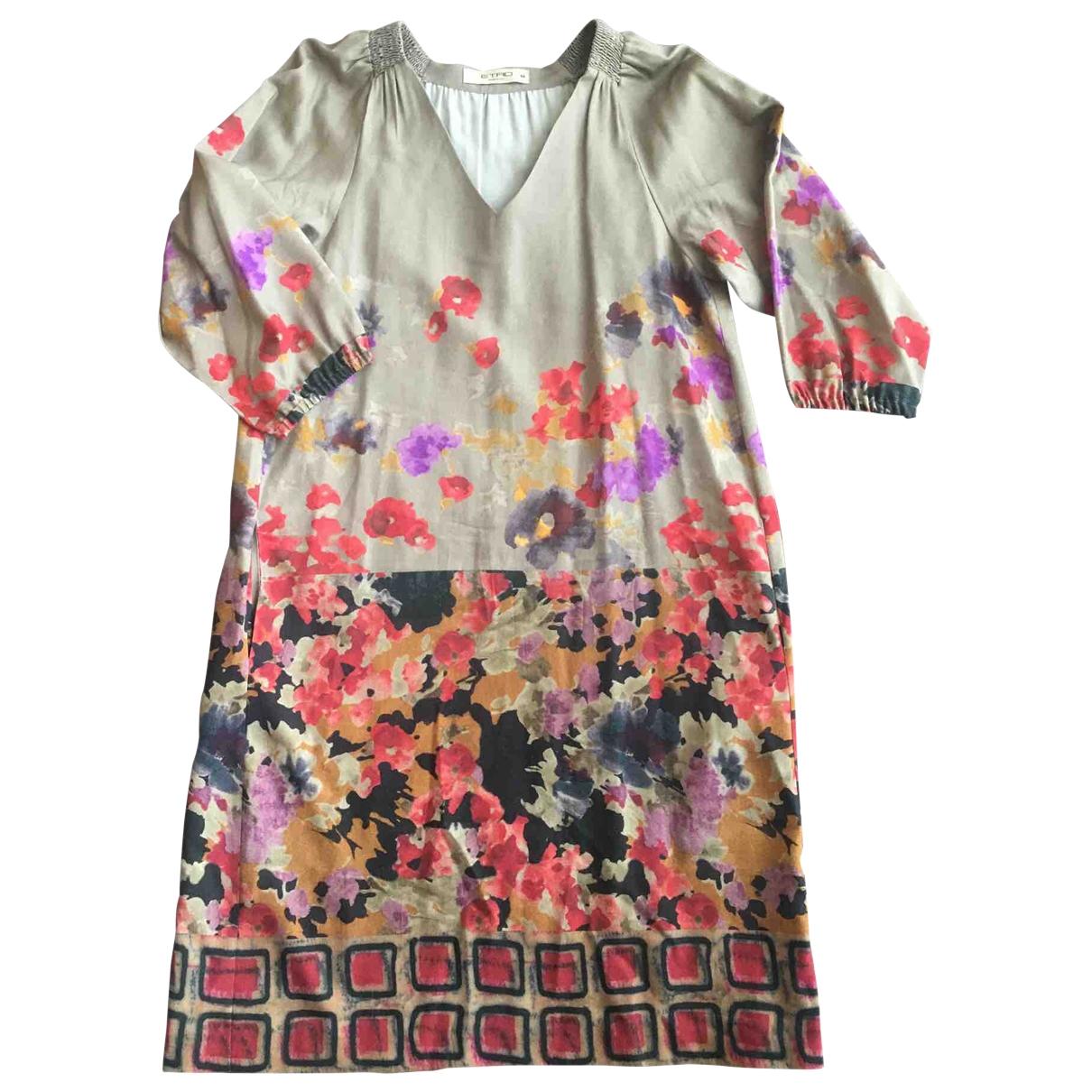 Etro \N Multicolour Wool dress for Women 44 IT