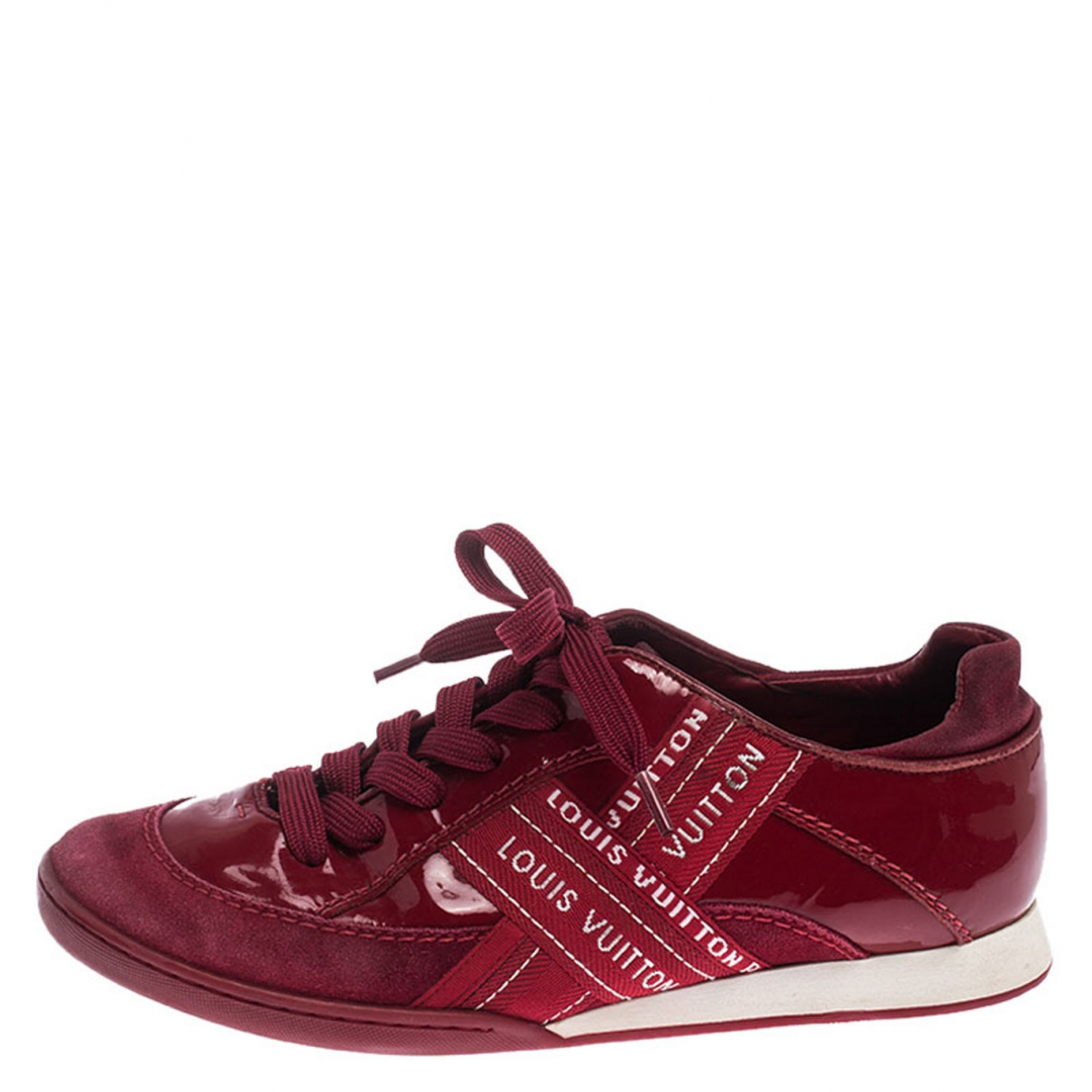 Louis Vuitton \N Red Leather Trainers for Women 6 US