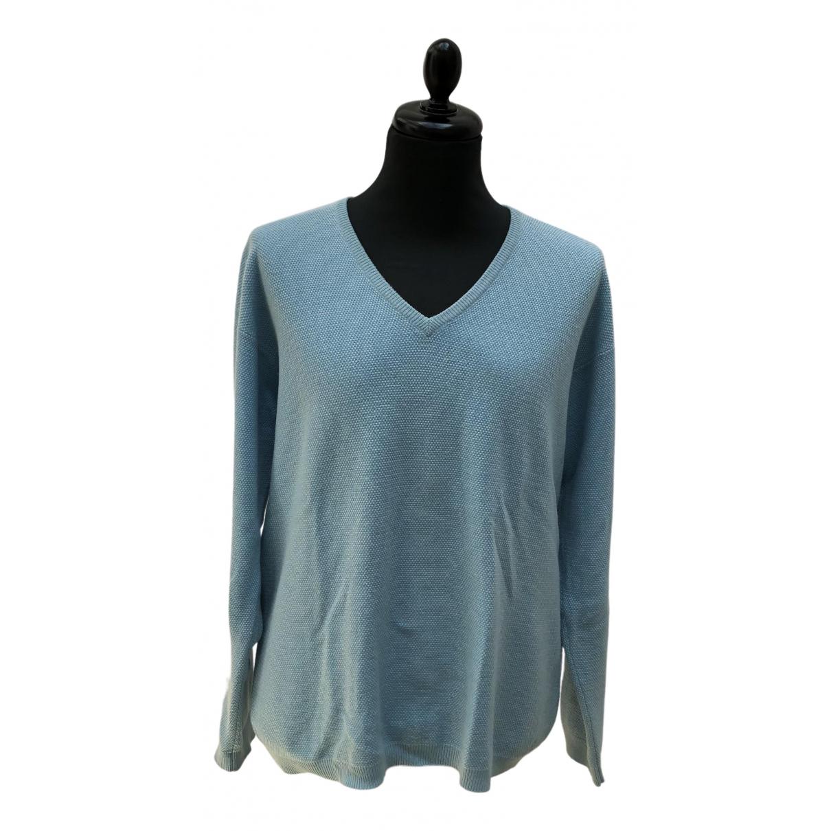 Malo \N Pullover.Westen.Sweatshirts  in  Blau Kaschmir