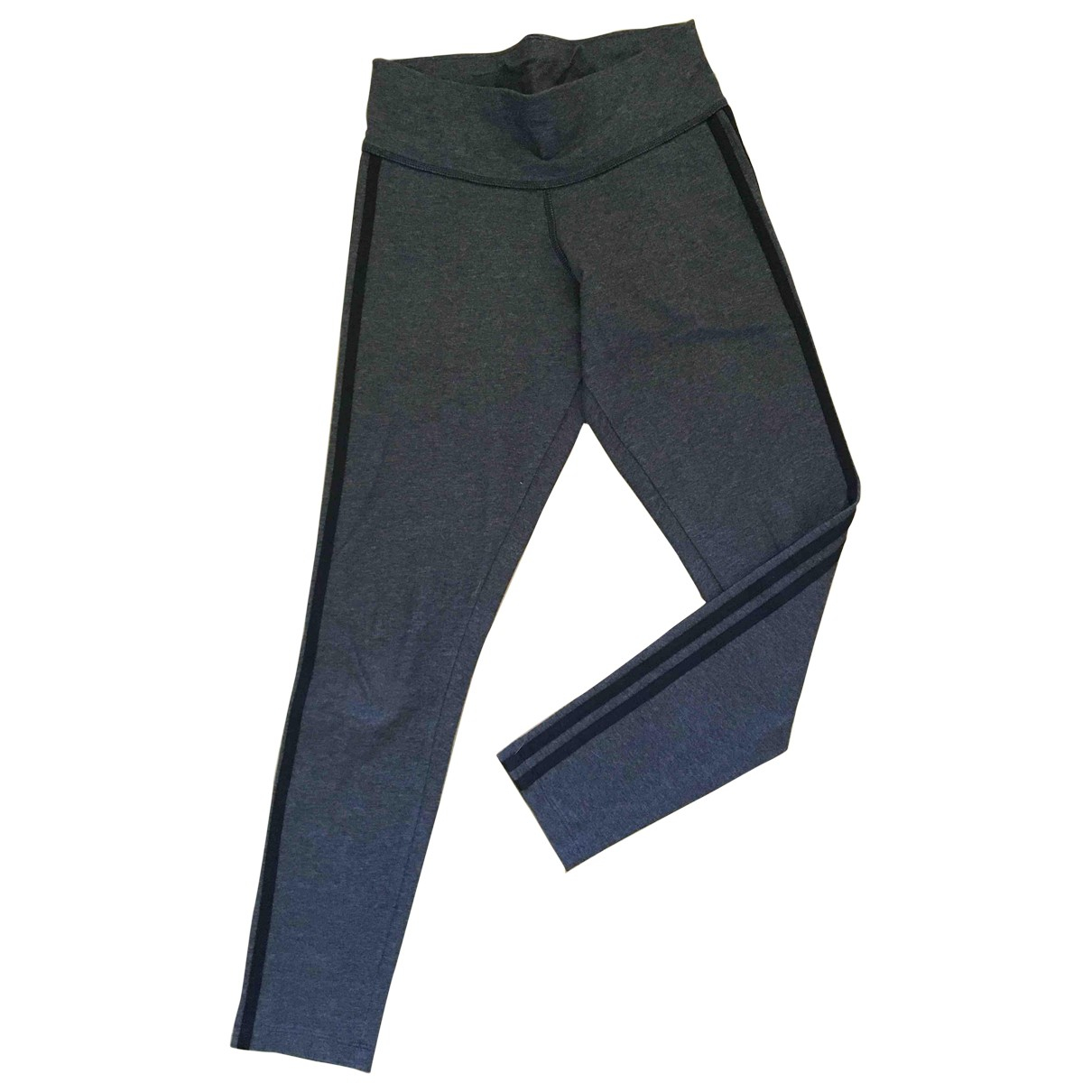 Adidas \N Anthracite Cotton Trousers for Women S International